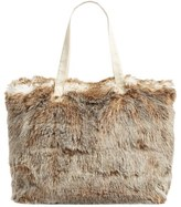 Nordstrom Cuddle Up Faux Fur Tote - Ivory