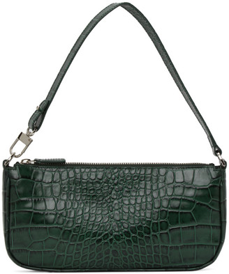 BY FAR Green Croc Rachel Bag