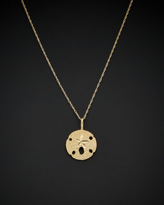 Italian Gold 14K Sand Dollar Starfish Pendant Necklace