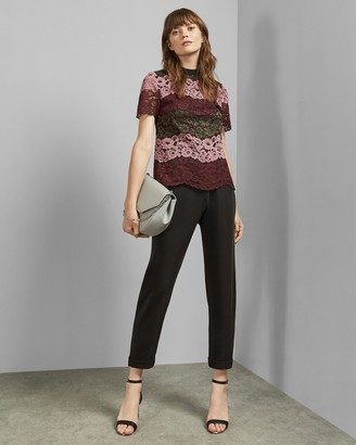 Ted Baker MERZEY Lace short sleeved top