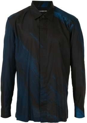 Issey Miyake Two Tone Long Sleeve Shirt