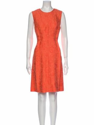Lela Rose Crew Neck Knee-Length Dress w/ Tags Rose