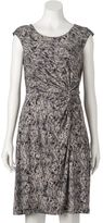 Dana Buchman Women's Print Twist-Front Dress