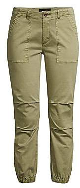 Monrow Women's Chino Side-Zip Joggers