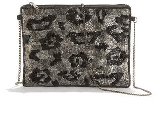 La Redoute Collections Sequin Clutch in Leopard Print