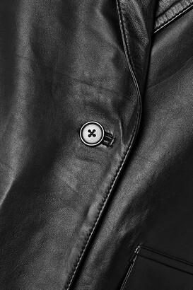 Deadwood + Net Sustain Brooke Leather Blazer - Black