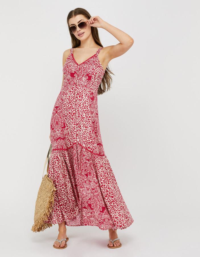 Under Armour Sunita Printed Maxi Dress in LENZING ECOVERO Pink