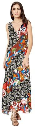 M Missoni Printed Sleeveless Dress (Multicolor) Women's Clothing