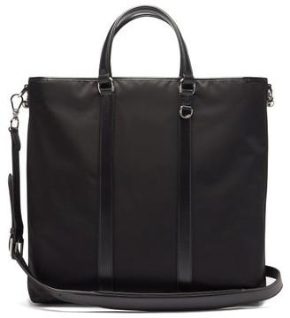 Ralph Lauren Purple Label Weekender Leather-trimmed Canvas Tote Bag - Black