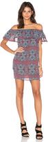 Line & Dot Bonbon Ruffle Dress