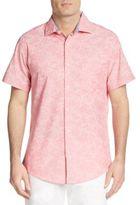 Saks Fifth Avenue Regular-Fit Tonal Floral-Print Cotton Sportshirt