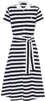 Polo Ralph Lauren Striped stretch-cotton midi dress