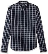 Scotch & Soda Men's Oxford Shirt with Yarn Check or Stripes