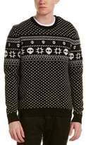 The Kooples Jacquard Wool Crewneck Sweater.