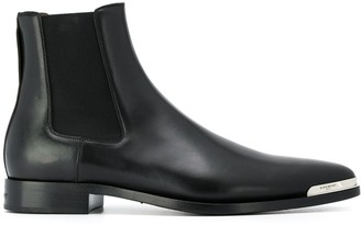 Givenchy Logo Plaque Ankle Boots