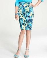 Ann Taylor Garden High Waist Pencil Skirt