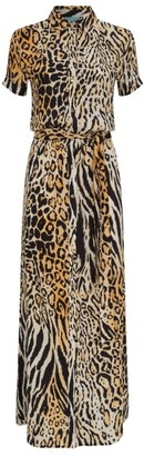 Melissa Odabash Naomi Cheetah Print Shirt Dress