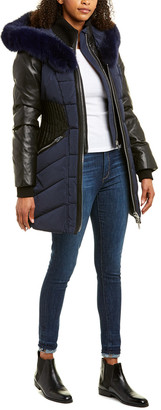Nicole Benisti NB Series by Series By Courcheval Leather-Trim Wool-Blend Down Coat
