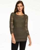 Le Château Open-Stitch Scoop Neck Sweater
