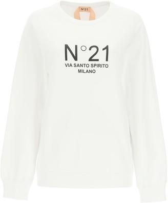 N°21 N.21 Crewneck Sweatshirt With Logo Print