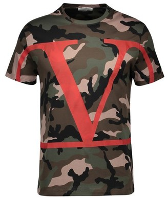 Valentino Go Logo Camo T-shirt