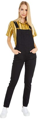 Naked & Famous Denim Core Overalls (Black Power Stretch) Women's Overalls One Piece