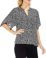 Vince Camuto Cape Overlay Dot Print Blouse
