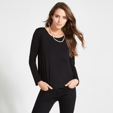 Apricot Black Chiffon Side Panel Long Sleeved Top