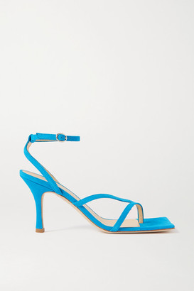 A.W.A.K.E. Mode Delta High Suede Sandals - Light blue