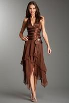 La Femme 11906 Halter Style High Low Prom Dress