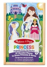 Melissa & Doug Melissa Doug Princess Horse Magnetic Dress-Up Wooden Dolls Pretend Play Set 35 pcs