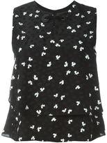 Emporio Armani printed layered tank top - women - Viscose/Silk/Polyester - 40