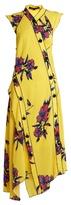 Proenza Schouler Lily-print asymmetric silk-crepe dress