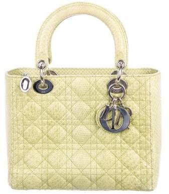 Christian Dior Python Medium Lady Bag