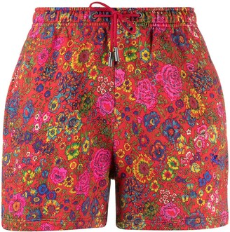 Etro Floral Pattern Jersey Shorts