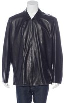 Ralph Lauren Purple Label Lambskin Collared Jacket