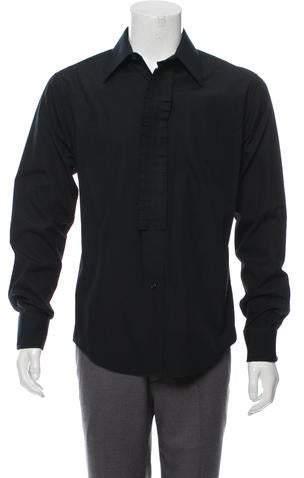 Saint Laurent Ruffle-Trimmed French Cuff Shirt
