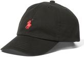 Ralph Lauren Black & Red Logo Baseball Cap - Toddler