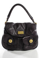 Marc by Marc Jacobs Purple Leather Pocket Front Satchel Handbag