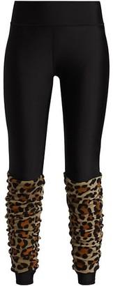 Terez Leopard Leg Warmer Leggings