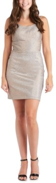 Morgan & Company Juniors' Shimmer Bodycon Dress