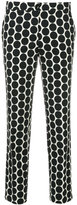 Etro polka dot cropped tousers - women - Cotton/Spandex/Elastane/Viscose - 40