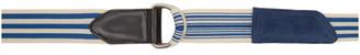 Dries Van Noten Blue and Off-White Tape Belt