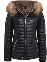 Oakwood Happy Fur Trimmed Down Leather Jacket