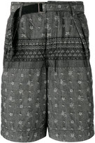 Sacai patterned shorts - men - Cotton - 2
