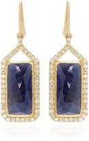 Jamie Wolf Sapphire and White Diamonds Rectangle Drop Earrings