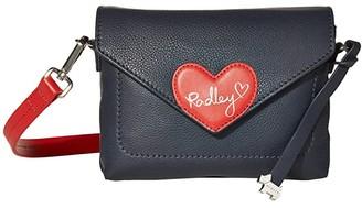 Radley London I Love You - Mini Flapover Crossbody (Ink) Handbags