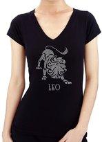 BLING BLING COUNTRY Zodiac LEO Rhinestone/stud Womens T-Shirts