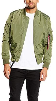 Alpha Industries Men's Ma-1 TT Bomber Jacket, (Black 03)