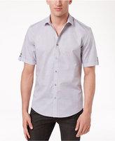 Alfani Men's Dash-Pattern Cotton Shirt, Only at Macy's